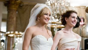 Battling brides Liv (Kate Hudson, left) and Emma (Anne Hathaway) have an emotional reunion at Liv's wedding.PHOTOGRAPHS TO BE USED SOLELY FOR ADVERTISING, PROMOTION, PUBLICITY OR REVIEWS OF THIS SPECIFIC MOTION PICTURE AND TO REMAIN THE PROPERTY OF THE STUDIO. NOT FOR SALE OR REDISTRIBUTION.